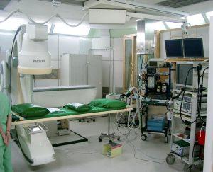 Ενδοσκοπική αίθουσα ERCP με ακτινολογικό μηχάνημα
